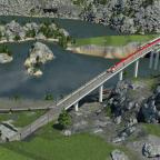 Kreuzung von der alten Ruhrtalbahn und der neuen Ruhrschnellbahn