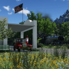 4-4-2 and a countryside gas station (with no effects)