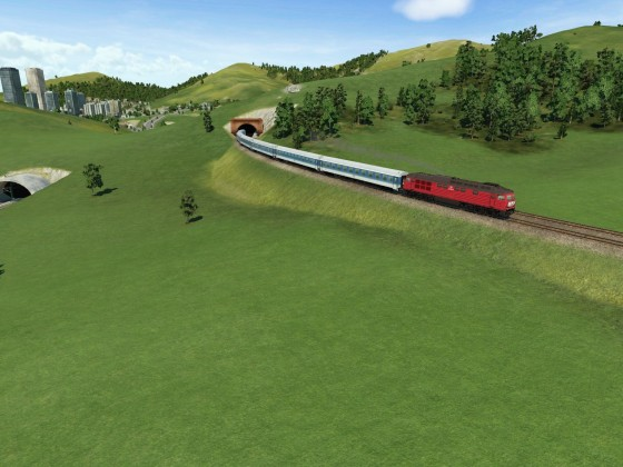 InterRegio auf nicht elektrifizierter Bergstrecke 2