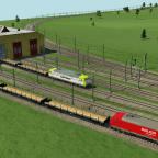 Eine BR145 von Captrain und Railion Logistic holen sich Fabrikneue Res687 ab