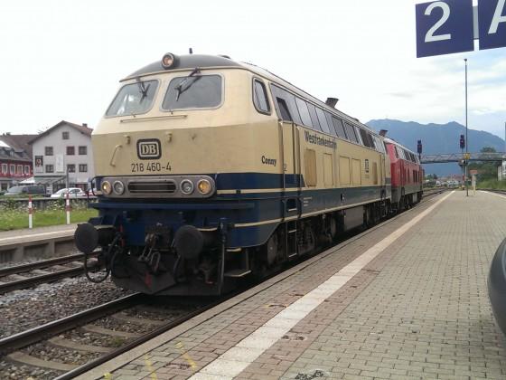 """BR 218 460-4 """"Conny"""" in Immenstadt (Allgäu)"""
