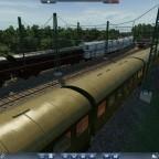 Zugbegegnung an der Einfahrt Rangierbahnhof Seddin