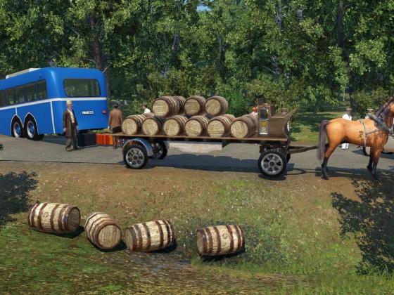 Das Bier im Straßengraben