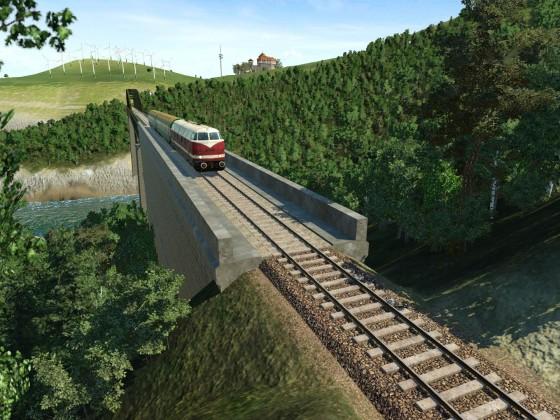 Der Viadukt über den Wiesenstrom
