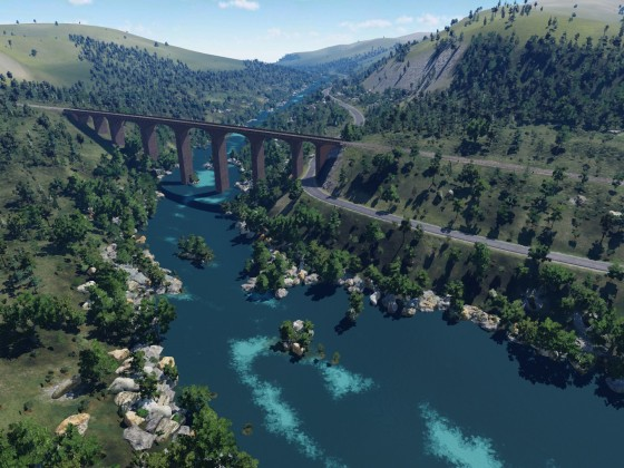 Alpine Flussquerung