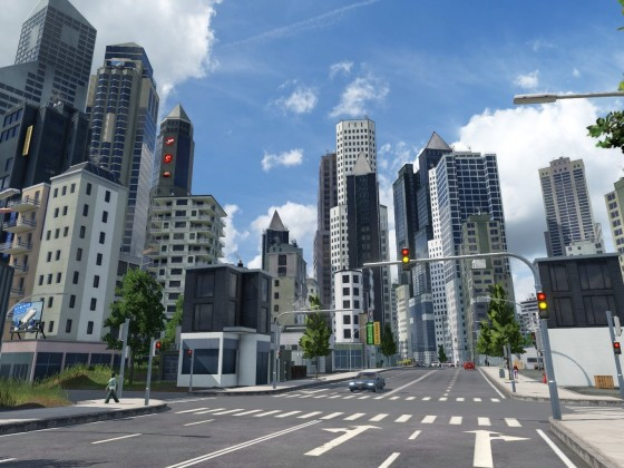 Hochhäuser in der Innenstadt