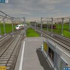 Nicht ganz Real. Um auch die ÖBB ein zu Binden lasse ich den Railjet von Hamburg nach Wien fahren. Hier die Parallel einfahrt der ICE 3 und RJ