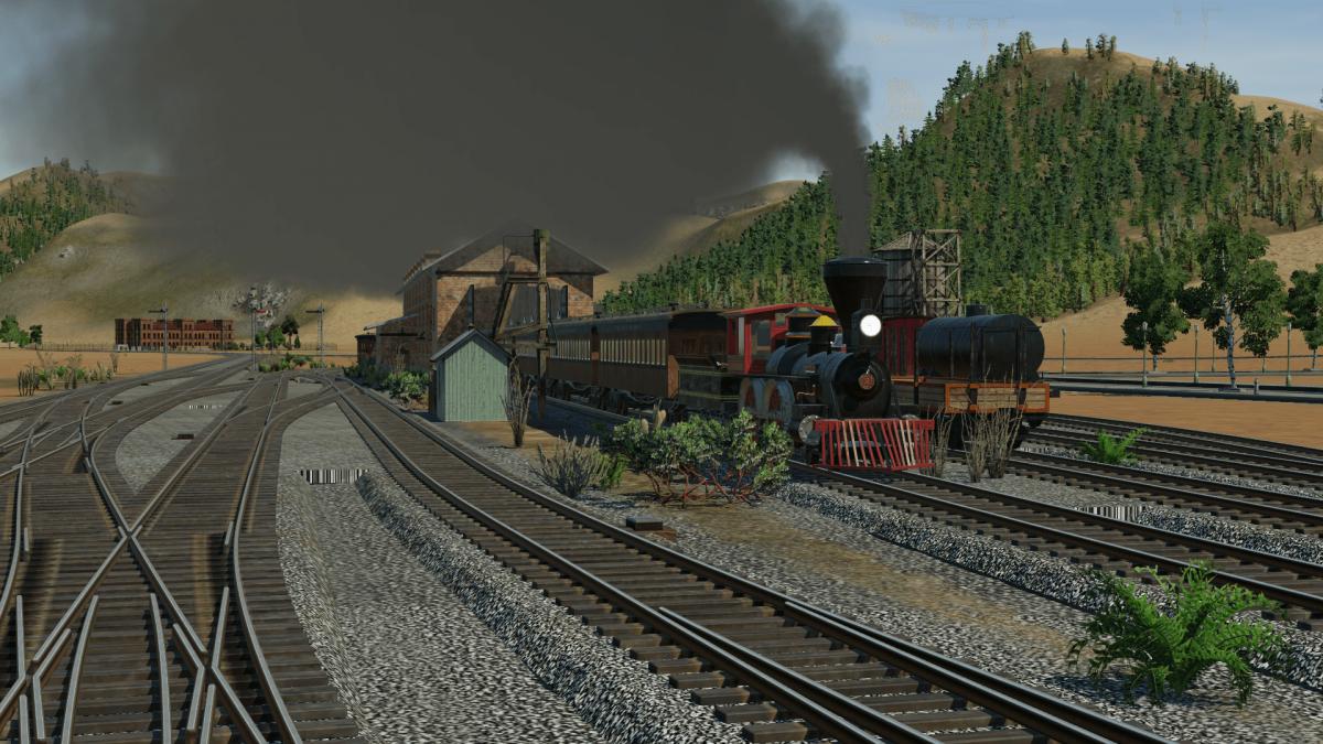 ein neuer Zug verlässt das Depot