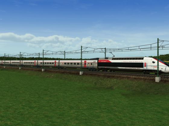 Un TGV Lyria apparaît en pleine