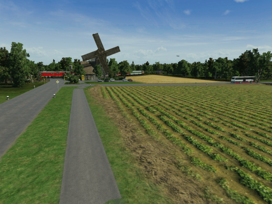Kleine Mühle am BÜ