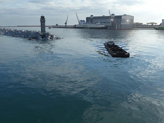 Ein Hafen entsteht