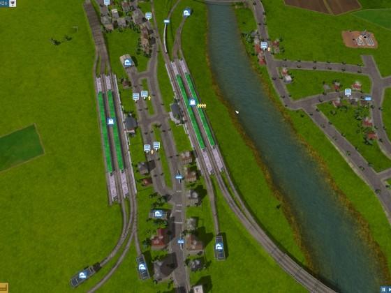 Beispiel: Bahnhöfe gegenüber