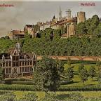 Kurhaus Karlsburg - Postkarten Stil
