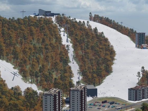 Skigebiet im Aufbau