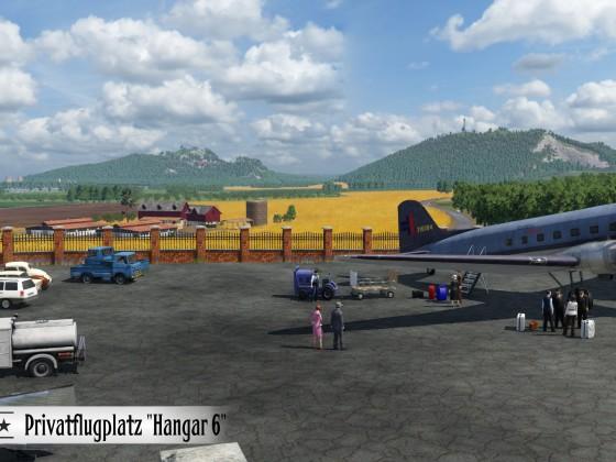 Privatflugplatz Hangar 6