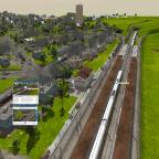 Der Zug verlässt Farnsworth HB wieder in richtung Farnsworth-Branch
