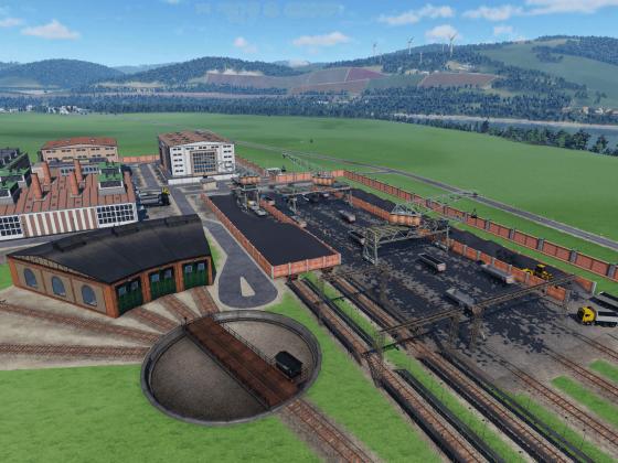 WIP - Heizkraftwerk mit Kohlelager und Bahnbetriebswerk
