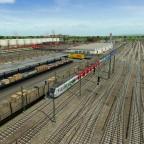 Blick von der Strecke auf den östlichen Bereich des S-Bahn Betriebswerkes