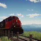 CN SD75I on the mountain pass