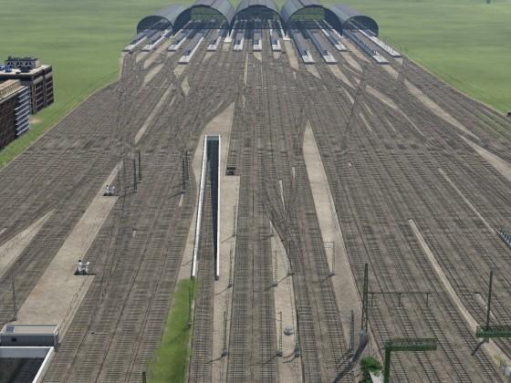 Überarbeitetes Gleisvorfeld