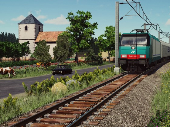 E483 on the North of Italy