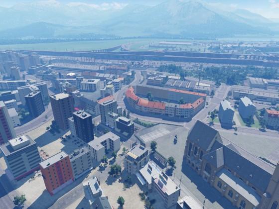 Alpine Großstadt entwicklung