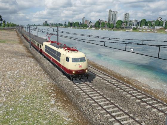 Sonderzug am Rhein