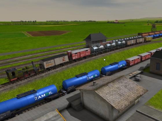 Verschiebebahnhof mit Abrollberg