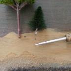 Vorbohren der Baumpositionen