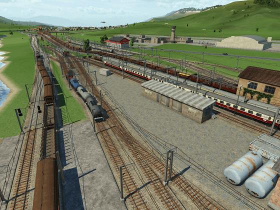 Viel los am Hauptverkehrsknotenpunkt