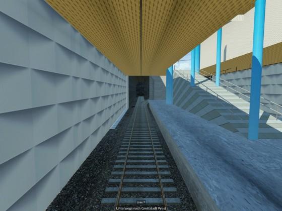 Untergrundstation - Ausgangsrampe
