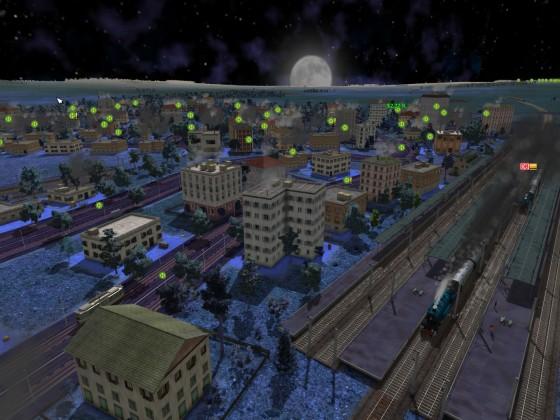 Night Shift mit Mond