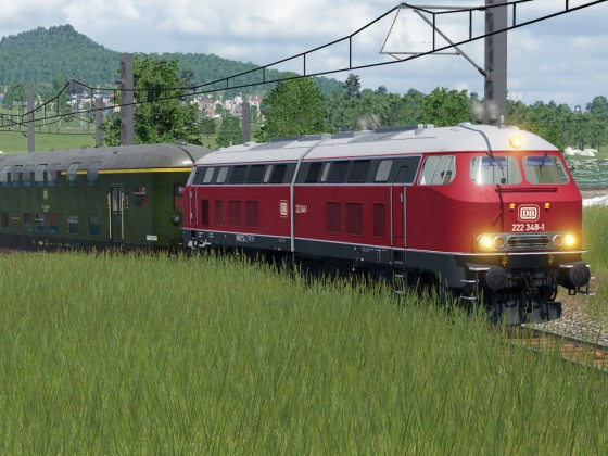 [Mod WIP] Testbetrieb der Baureihe 222 im Rheintal