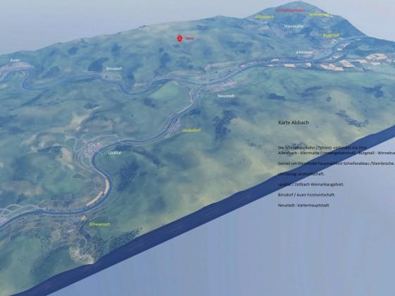 Streckenverlauf meiner Alsbach Karte