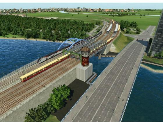 Betrieb an der Elsenbrücke