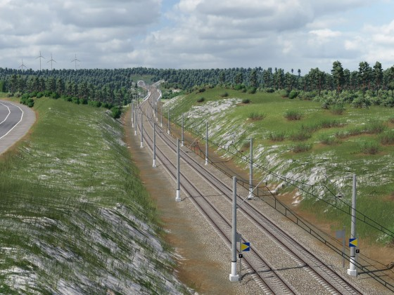 High speed Line inland