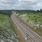 High speed Line inland