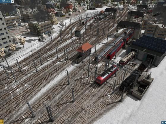 Blick auf linkes Bahnhofsvorfeld