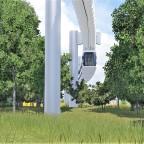 Prestigeprojekt Schwebebahn (Monorail) in Freifeld zwischen Flughafen und Messe 8/8