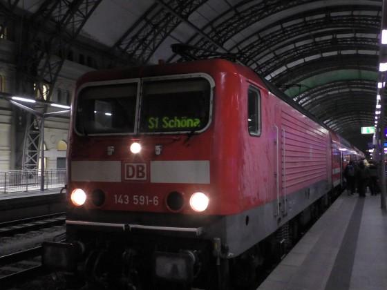 S1 in Dresden Hauptbahnhof