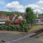 Einfahrt des Regionalzugs