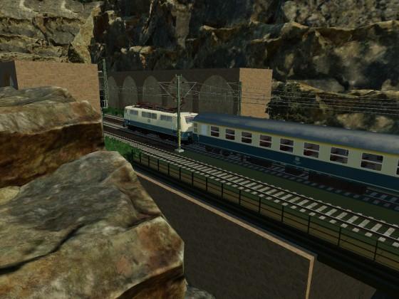 D-Zug richtung Westen