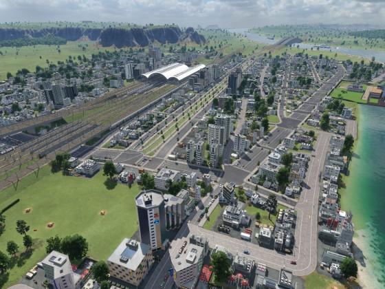 Großstadt im Aufbau
