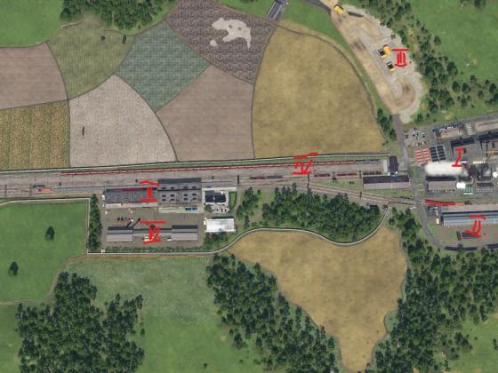 Vogelperspektive Stahlwerk + Logistik