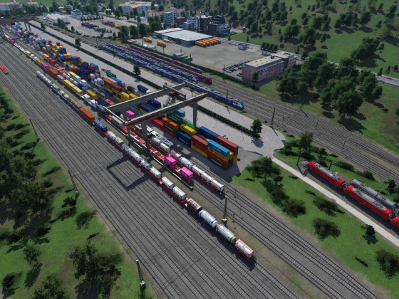 Umschlagbahnhof für den intermodalen Verkehr