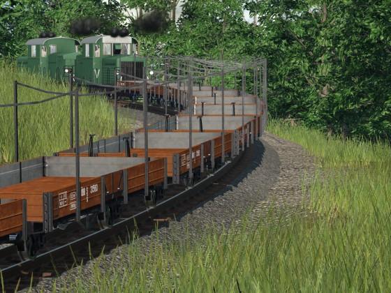 Schmalspurbahn Richtung Sägewerk