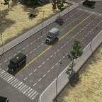 USA Erweiterung 6 Spurig Stadard Straße mit Platten weg