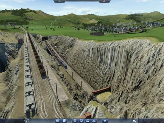 Zweite Strecke durch Steinbruch