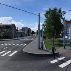 Einfahrt Bahnhofsschleife / Gateway station loop