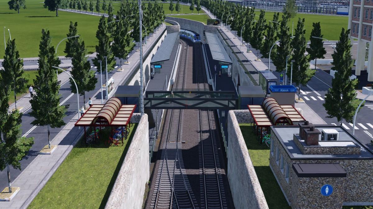 WIP - Die Stadtbahn verschwindet unter der Erde.